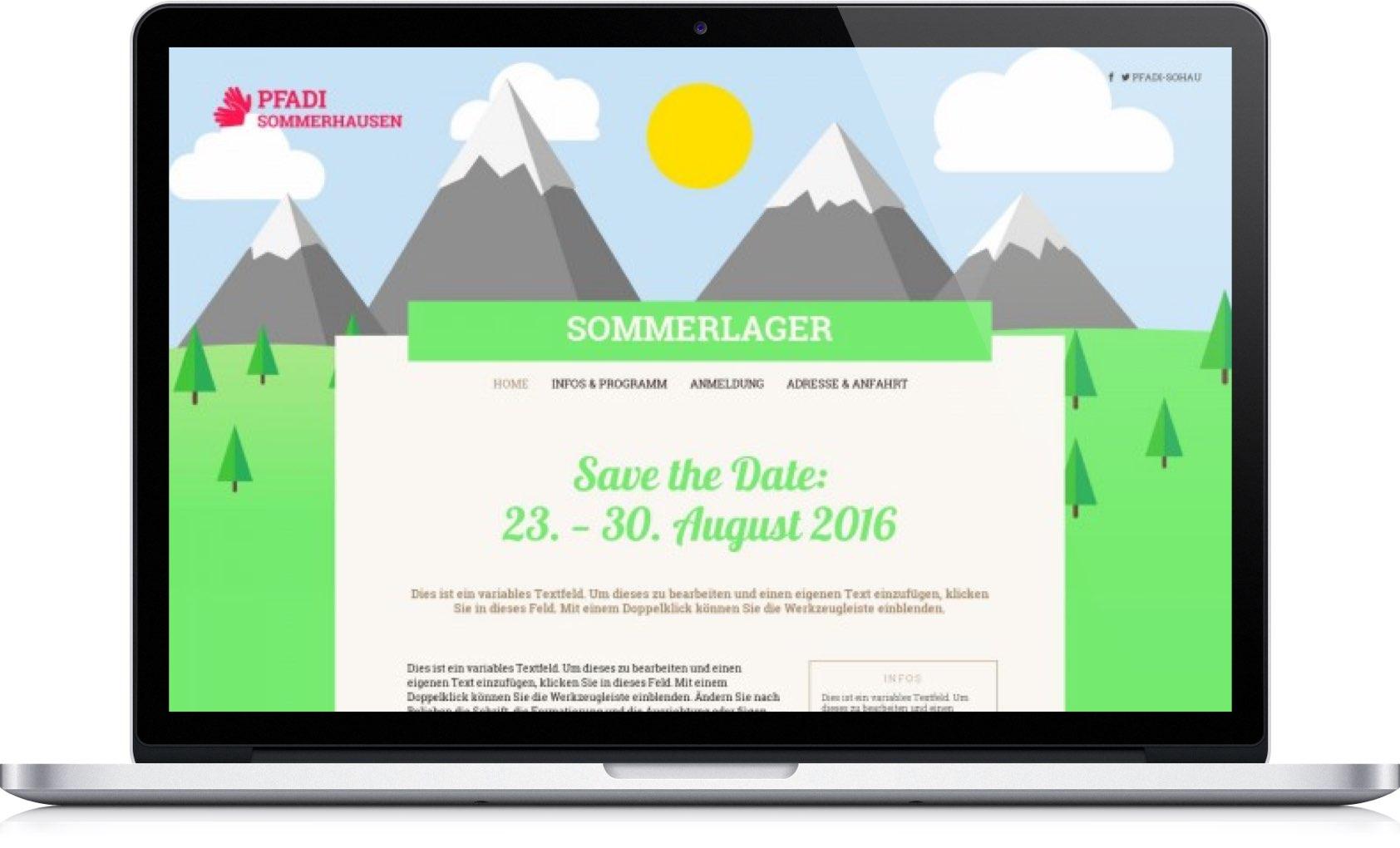 Nett Sommerlager Anwendungsvorlage Zeitgenössisch - Beispiel ...